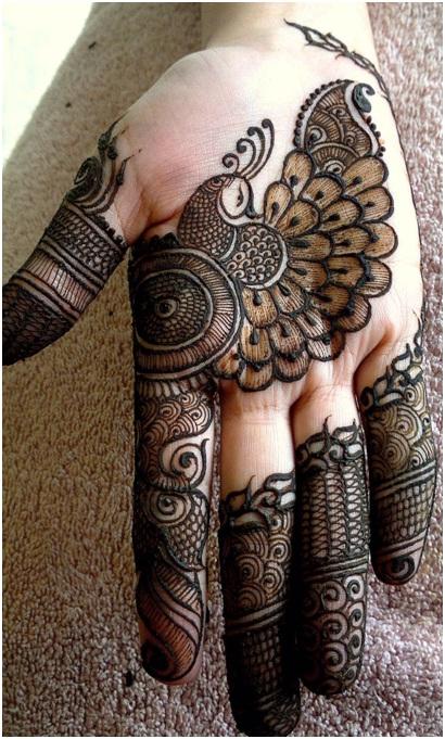 diseño mehndi para manos rajasthani